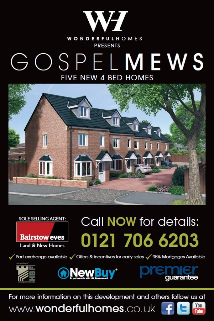 New Homes For Sale Gospel Lane Acocks Green Birmingham