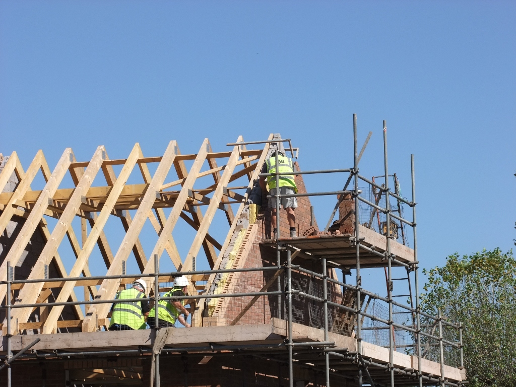 Gable Walls Finished On The 5 New Homes We Re Building For