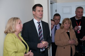 Andy Evans thanking the Wonderful Homes team & guests