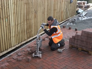Driveway block paving work starts at the 5 new homes we're building for sale in Acocks Green, Birmingham