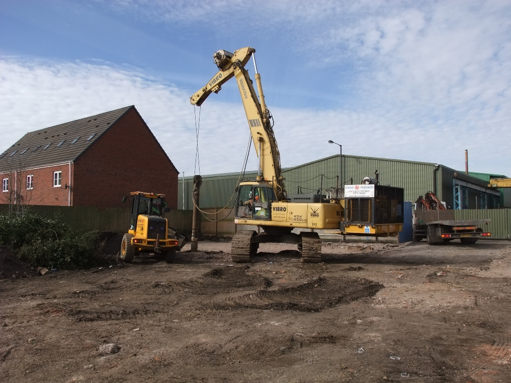 Vibro piling foundations at walsall road willenhall for House piles
