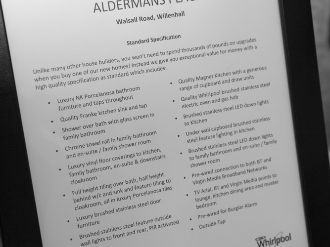 Aldermans Place Specification