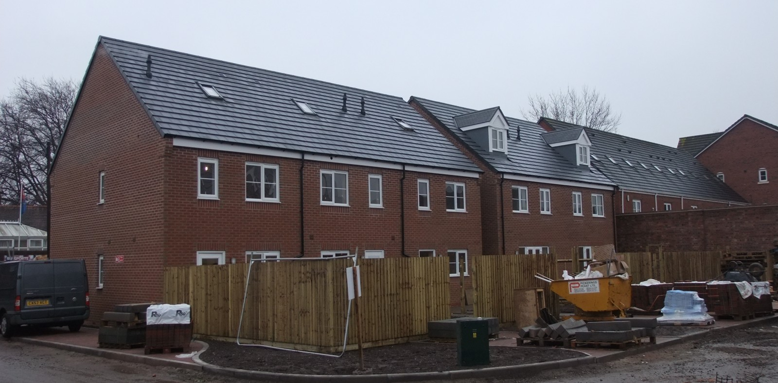 Scaffold removed around plots on the Aldermans Place development