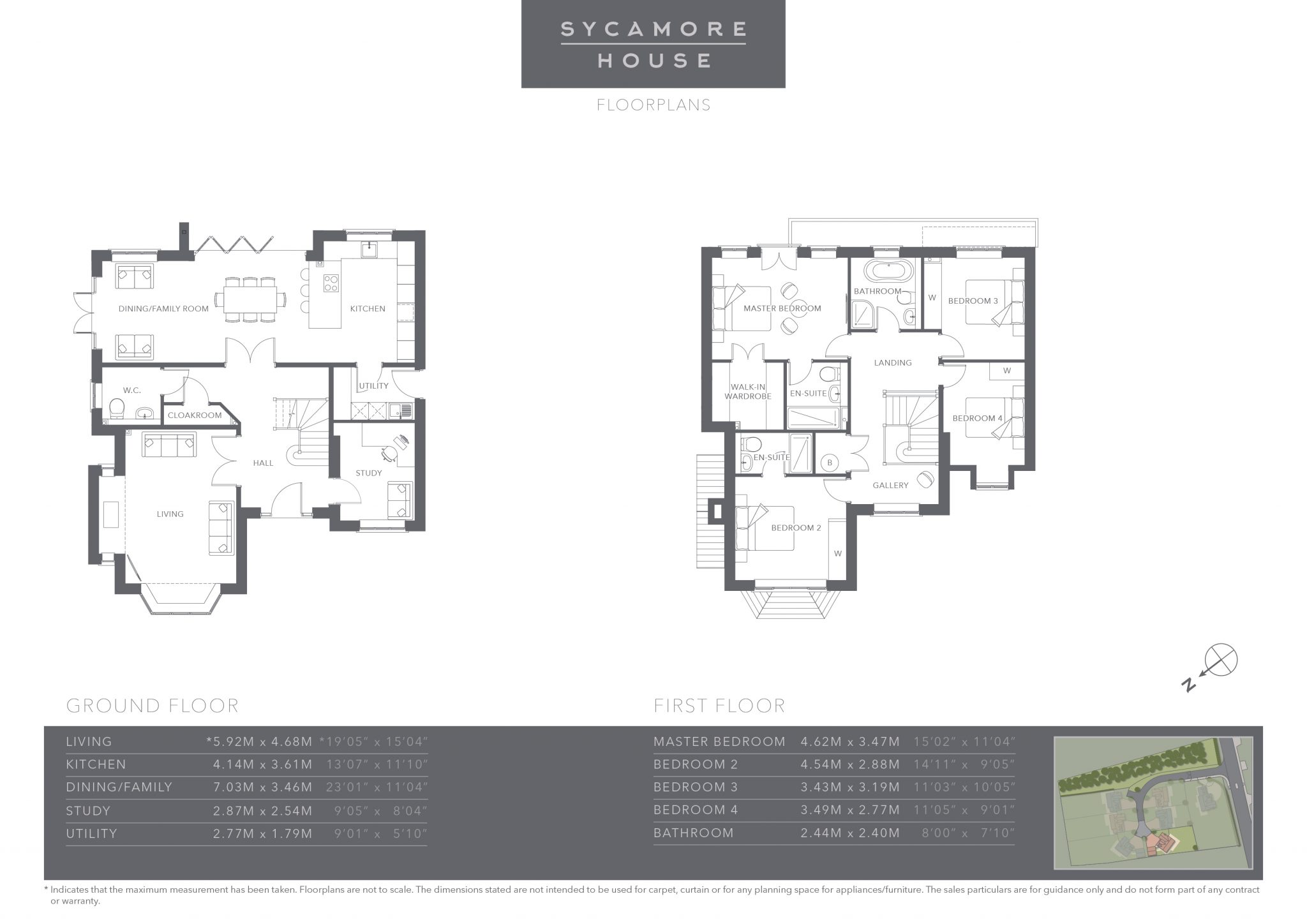 The Coppice - Plot 3 - Sycamore House - Floor Plans
