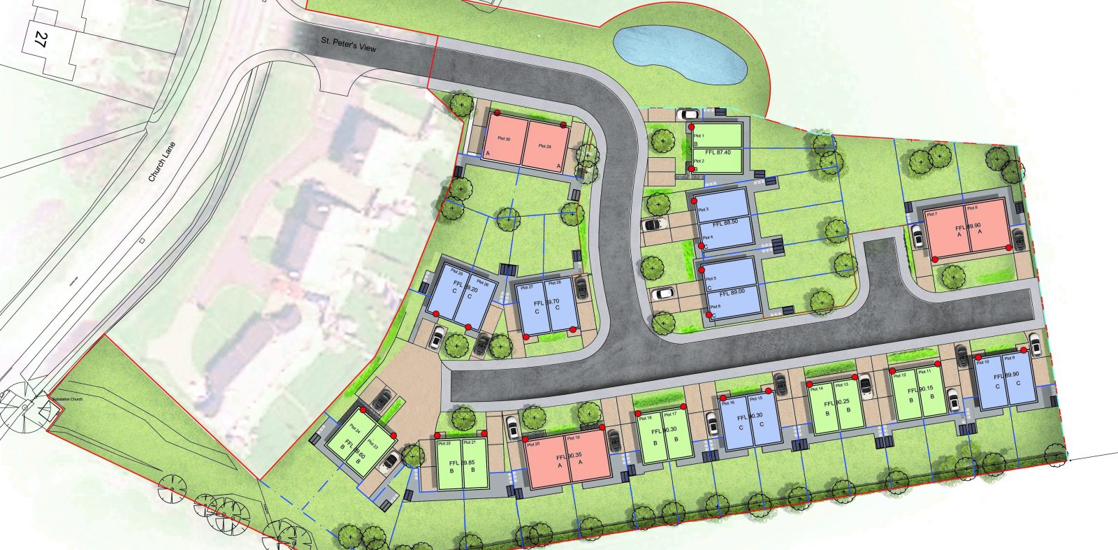 St Peters View Site Plan